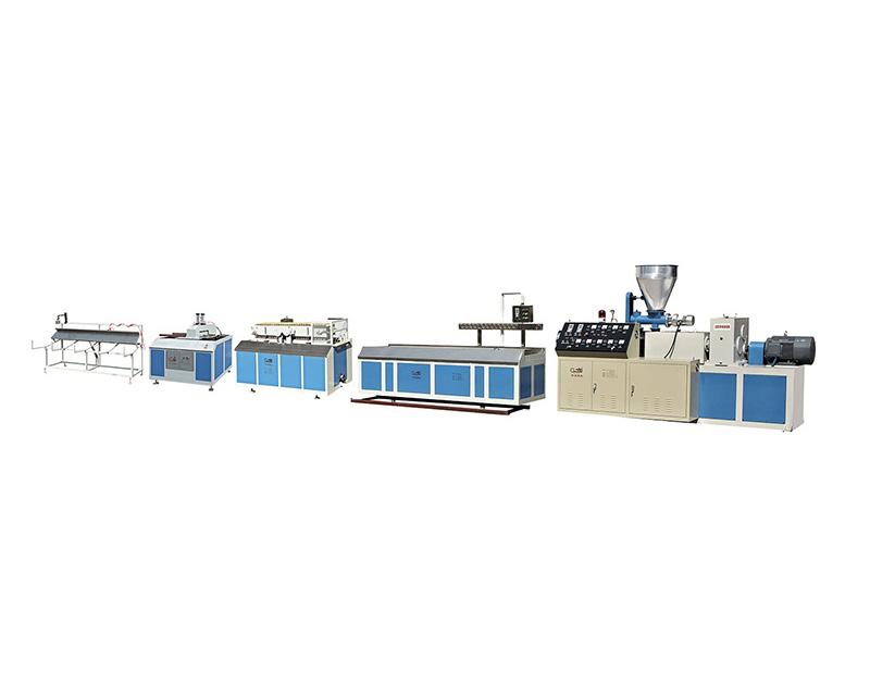广州SJSZ系列锥型双螺杆塑料异型材/木塑型材挤出机生产线
