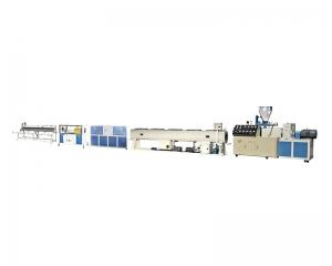 PVC 双螺杆大口径管材挤出机生产线