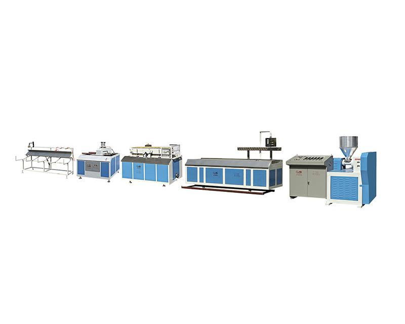 SJ Series of PVC/PS/PE Single-screw Plastic Profiles Extrusion Line